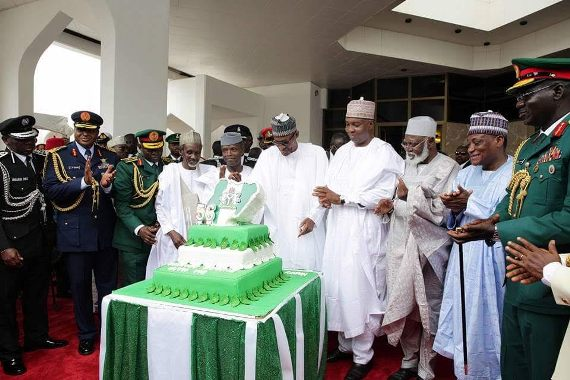 Photos: President Buhari, Vice President Osinbajo, Others At Independence Day Celebration In Aso Rock