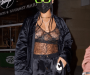 Braless Photos of Rihanna in Lingerie as She Goes On Late-night dinner outing with pals